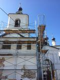 Ансамбль Белопесоцкого монастыря, XVII в.: Троицкий собор, 1569 г., с колокольней (церковь-колокольня святителя Николая надвратная).