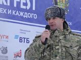 Командир Росгвардии Николай Путилин поздравляет лыжников!