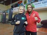 Саша Аврунина с тренером Натальей Дьячковой.