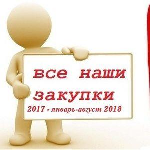 Закупки 2017 г.- январь -август 2018 г.