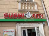 Вывески, световые короба и оклейка витрин Sushi City