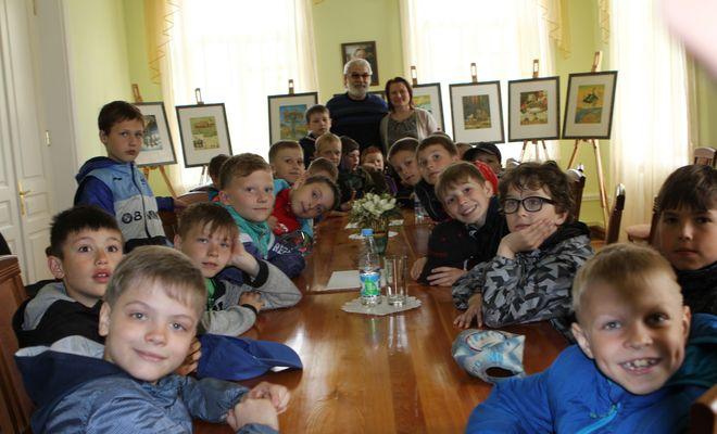 Встреча школьников с Заслуженным художником РФ Сергеем Сюхиным
