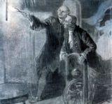 Ломоносов и Рихман. Рисунок В. и Л.Петровых