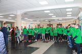 Участники эстафеты на финише в САФУ имени М.В. Ломоносова