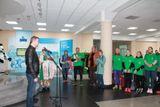 Участников эстафеты приветствует проректор САФУ Сергей Сорокин