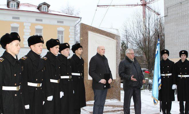 Выступление К.В. Лобанова на церемонии возложения цветов к памятникам М.В. Ломоносову