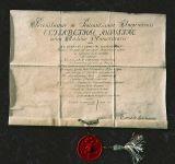 Диплом М.В.Ломоносова, 1745 г.