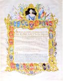 Дарственная грамота императрицы, выданная Ломоносову на землю при деревне Усть-Рудица. 1756 г. 2 сентября