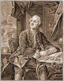М.В.Ломоносов. Гравюра Э.Фессара-Х.Вортмана, 1757 г.