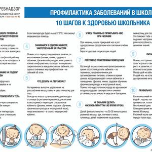 10 шагов к здоровью школьников