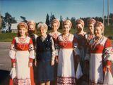 Группа «Айно» на гастролях в Финляндии с С.П.Оськиной. 1985 год