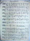 Песни из репертуара ансамбля – «Капитаны» и «Холостяки» (партия II баса). Из архива «Кантеле»
