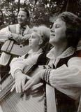 Кантелисты Тойво Вайнонен, Татьяна Антышева и Лилия Быданова. 1965 г.
