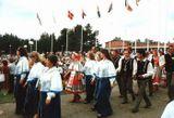 Артисты хора «Кантеле» на международном фестивале народной музыки в г. Каустинен, Финляндия. 1985 г.