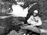 Максим Гаврилов у водопада Кивач. 1984 г.