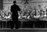 Хор и оркестр «Кантеле» под управлением Семена Карпа в Москве в рамках Декады Карельского искусства и литературы, 1959. Виктор Зайцев – в оркестре (во втором ряду в центре)