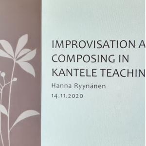 Мастер-классы по импровизации на кантеле для педагогов Карелии