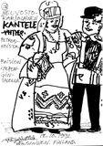 Дружеский шарж на выступление Валентины Лашиной и Александра Каширина (Финляндия 1991)