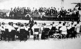 Концерт на пристани в Петрозаводске. 1936. Художественный руководитель и дирижер – Виктор Гудков