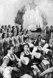 «Кантеле» в Москве, выступление в рамках Недели карело-финской музыки и танца в Москве в 1951 году. В оркестре – Эйла и Эрик Раутио