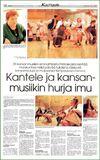 «Круговорот кантеле и национальной музыки». Статья в газете «Ita-Savo» от 15 января 1997 г. (Финляндия)
