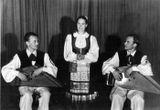 Тойво Вайнонен, Люция Теппонен, Максим Гаврилов – участники Всемирного фестиваля молодежи в Будапеште. 1949