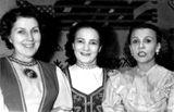 Артистки «Кантеле» Виено Хямяляйнен, Тююне Пулккинен и Эльза Баландис.