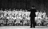 Ансамбль «Кантеле» выступает в Москве. 1946