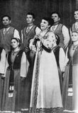 Концерт в Кремлевском театре. Народная артистка РСФСР Сиркка Рикка исполняет вепсскую колыбельную песню