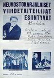Афиша выступлений «Кантеле» в Финляндии, 1961