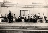 20 лет ансамблю «Кантеле». Ансамбль кантелистов выступает в Парке культуры и отдыха. Дирижер – Владимир Салоп. 23 июня 1956