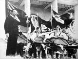 Выступление ансамбля кантелистов в Москве. 1940
