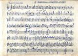 Ноты, записанные рукой М.Гаврилова