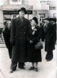 Певец Энсио Венто и танцовщица Эльза Баландис — земляки по Канаде: оба жили в Киркланд-Лейке, оба переехали в Советский Союз, в Карелию, оба работали в ансамбле «Кантеле». 1950-е гг.