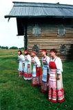 Артистки вокальной группы «Айно» на о. Кижи. Начало 2000х гг.