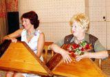Юбилей Татьяны Антышевой в Доме Кантеле, 2006 г. С артисткой Александрой Сахаровой