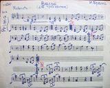 И.Брамс. Вальс. Переложение для трио кантеле Эрика Раутио. Партия II примы (фрагмент). Из архива «Кантеле»