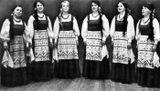 Группа «Айно» в 1972 году: Евдокия Игнатьева, Лидия Макарова, Надежда Выдрина, Валерия Потапенко, Валерия Таврель, Людмила Иутина