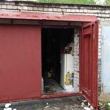 Распашные ворота, в гараж, сталь 3 мм