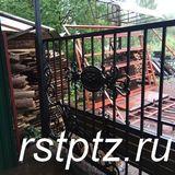 Ворота на участок, элементы ковки
