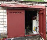 ворота гаражные, сталь 3 мм, козырёк металлический, 24000 руб.