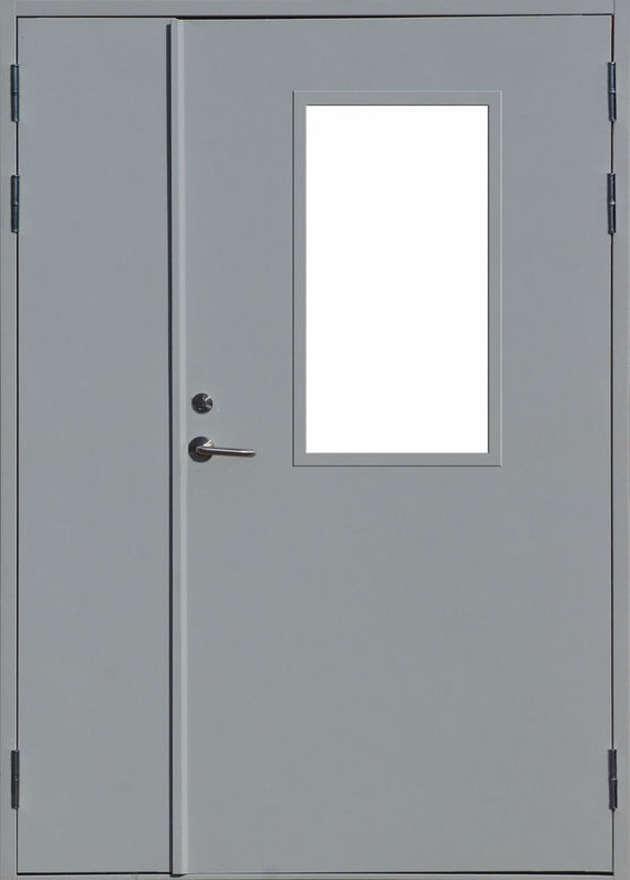 двери технические двустворчатые стальные с остеклением