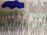 """Рисовал Артём Липко, 2 """"Г"""" класс к сказке братьев Гримм «Тайна голубого света»"""