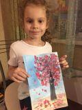 Горбунова Полина, 6 лет. Расцвела яблонька в саду
