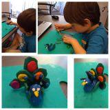 Никита Жуков, 4 года. У моей птички красивый хвост