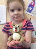 """Варвара Жук, 5 лет. """"Мой медвежонок очень удивился"""""""