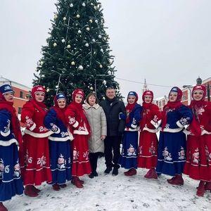 """«Новогодний калейдоскоп» на площадке """"Гостиный двор"""" г. Калуга"""
