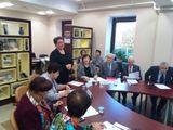 Марина Никишина приветствует участников круглого стола