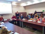 Елена Савченкова выступает с докладом