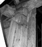 Остаток первоначального косяка двери в трапезную